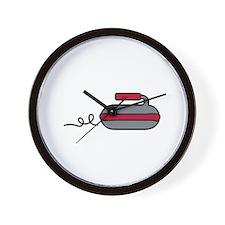 Curling Rock Wall Clock