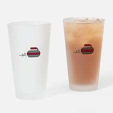 Curling Rock Drinking Glass