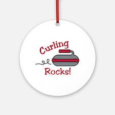 Curling Rocks Ornament (Round)
