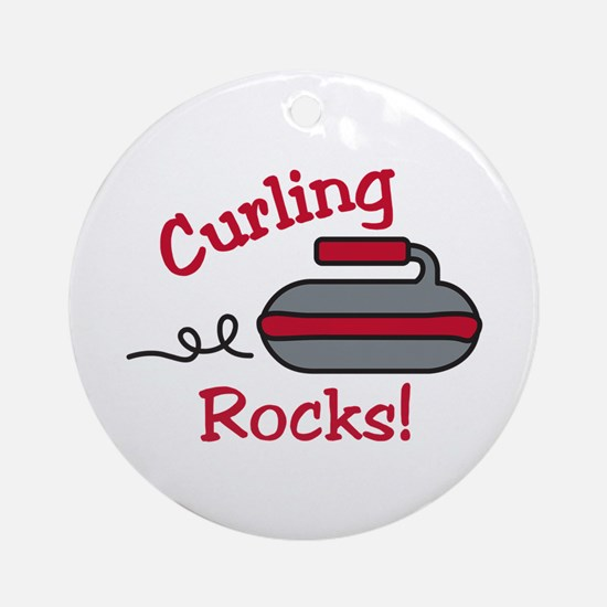 Curling Rocks Ornament (Round)