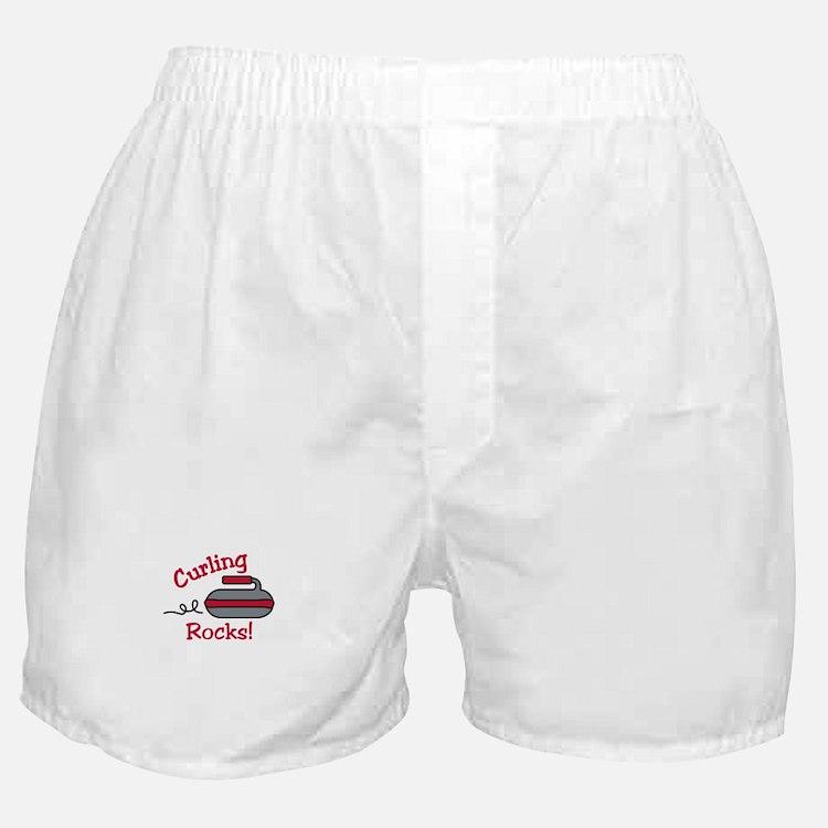 Curling Rocks Boxer Shorts