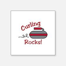 Curling Rocks Sticker