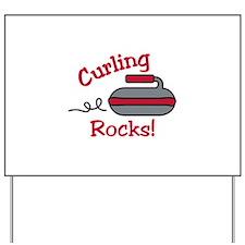 Curling Rocks Yard Sign