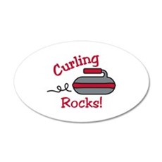 Curling Rocks Wall Decal