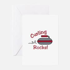 Curling Rocks Greeting Cards