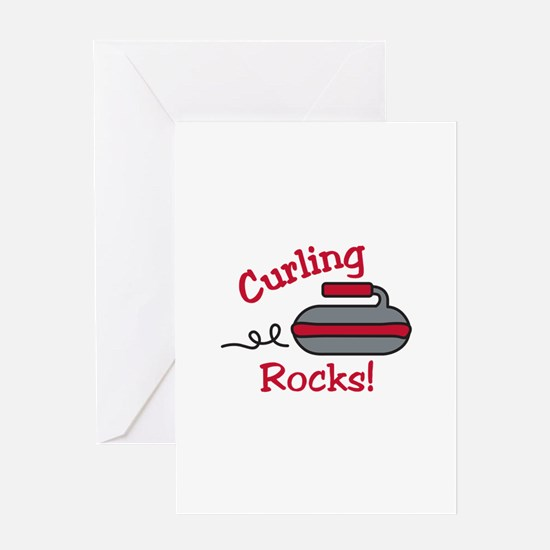 Curling Rocks Greeting Cards