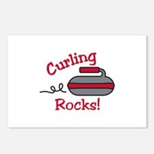 Curling Rocks Postcards (Package of 8)