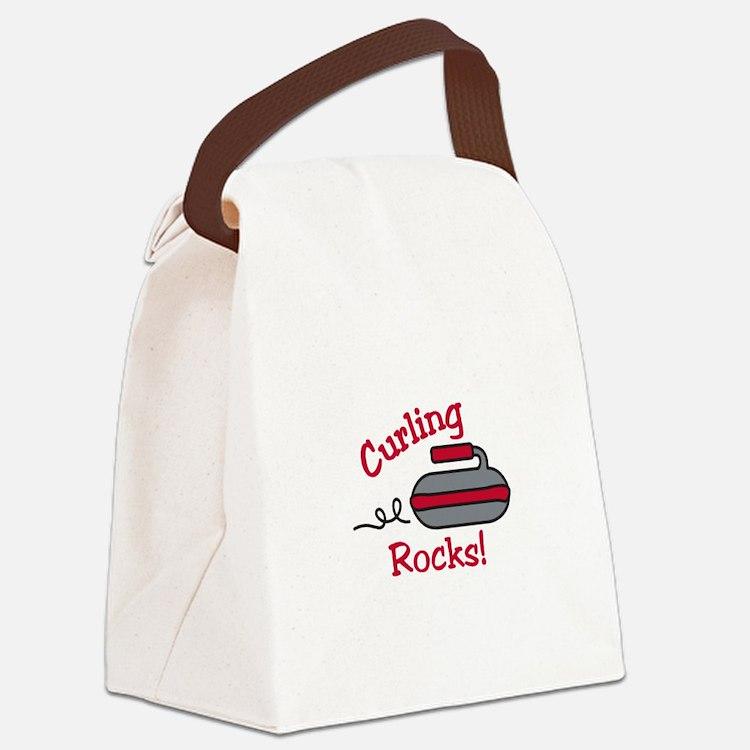 Curling Rocks Canvas Lunch Bag