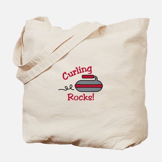 Curling Rocks Tote Bag