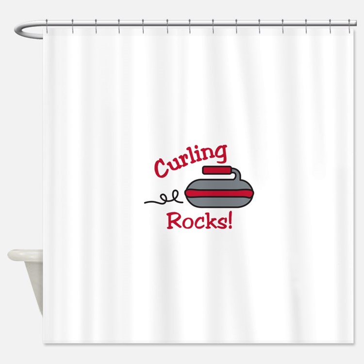 Curling Rocks Shower Curtain