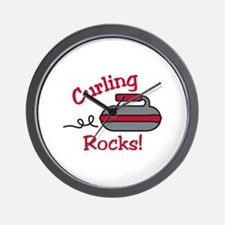Curling Rocks Wall Clock