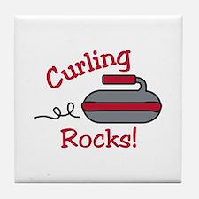 Curling Rocks Tile Coaster