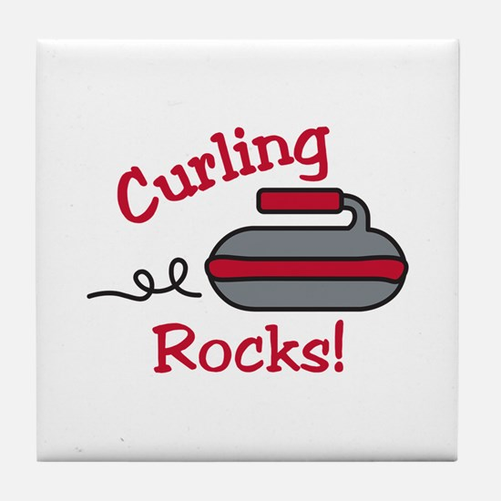 Curling Rocks Tile Coaster