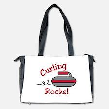 Curling Rocks Diaper Bag