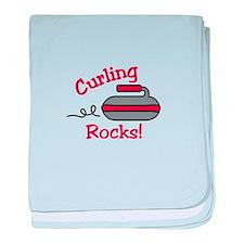 Curling Rocks baby blanket