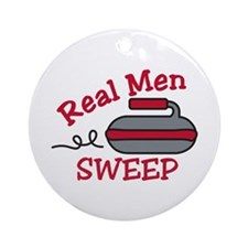 Real Men Sweep Ornament (Round)