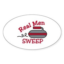 Real Men Sweep Decal