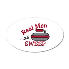 Real Men Sweep Wall Decal