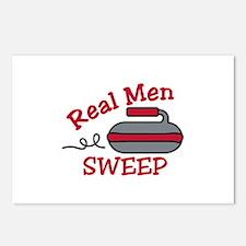 Real Men Sweep Postcards (Package of 8)