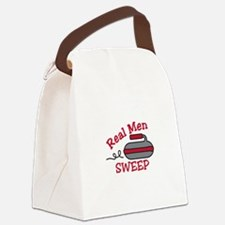 Real Men Sweep Canvas Lunch Bag
