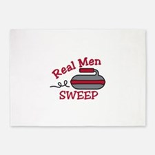 Real Men Sweep 5'x7'Area Rug