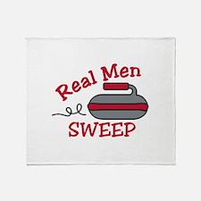 Real Men Sweep Throw Blanket