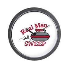Real Men Sweep Wall Clock