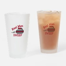 Real Men Sweep Drinking Glass