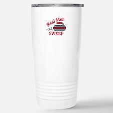 Real Men Sweep Travel Mug