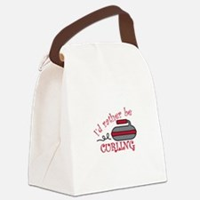 Rather Be Curling Canvas Lunch Bag