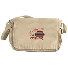 Rather Be Curling Messenger Bag