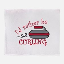 Rather Be Curling Throw Blanket