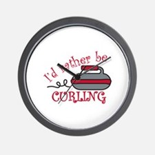 Rather Be Curling Wall Clock