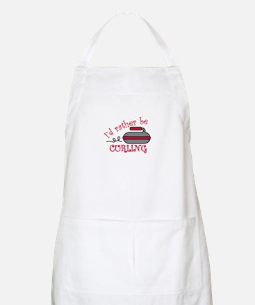 Rather Be Curling Apron