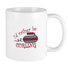 Rather Be Curling Mugs