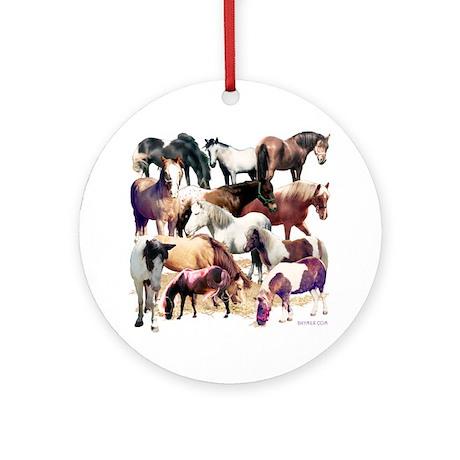 Ponies Ornament (Round)