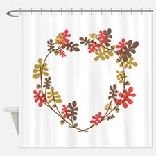 Oak Wreath Shower Curtain