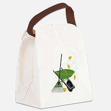 Wheelbarrow & Rake Canvas Lunch Bag