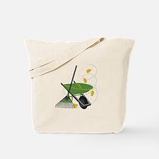 Wheelbarrow & Rake Tote Bag