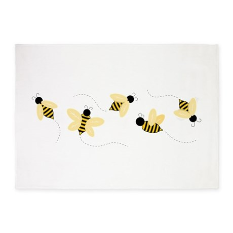 Bumble Bees 5u0027x7u0027Area Rug