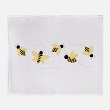 Bumble Bees Throw Blanket
