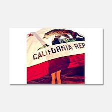 California Republic Car Magnet 20 x 12