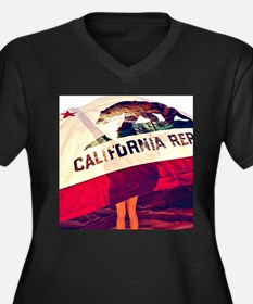 California Republic Plus Size T-Shirt