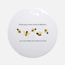 Baby Bumble Bee Ornament (Round)