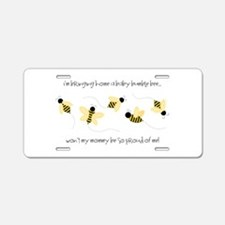 Baby Bumble Bee Aluminum License Plate