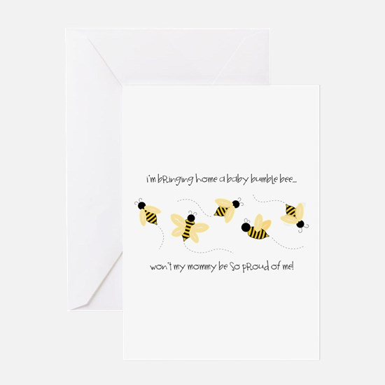 Baby Bumble Bee Greeting Cards