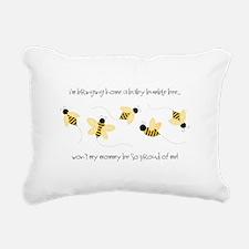 Baby Bumble Bee Rectangular Canvas Pillow