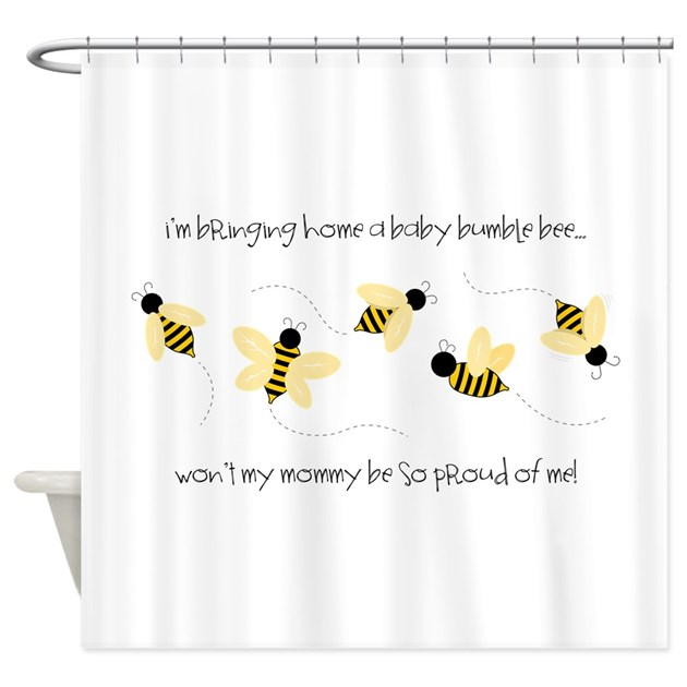 Baby Bumble Bee Shower Curtain By Concord21