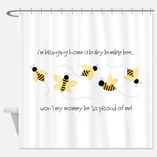 Baby Bumble Bee Shower Curtain