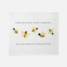 Baby Bumble Bee Throw Blanket